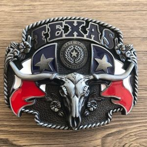 Other - Belt buckle Texas Bull western rodeo men silver